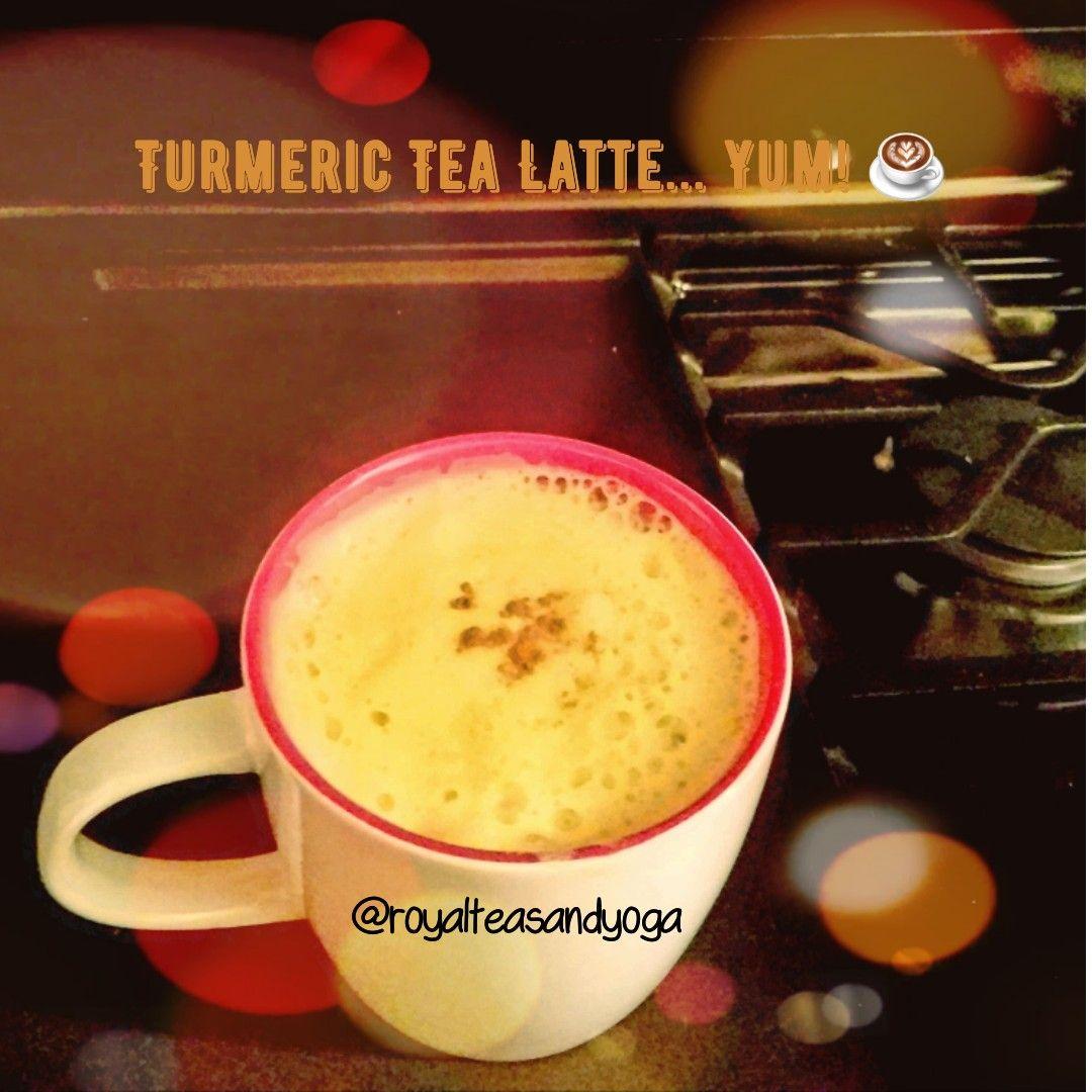 Turmeric And Almond Milk Tea Latte. This Anti-inflammatory
