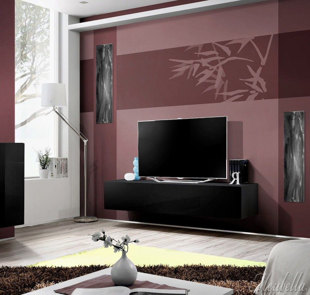 TV-Meubel Flame 1  De tv-meubel is gemaakt van zwart spaanplaat met hoogglans zwarte MDF deur.  Flame heeft het druk systeem voor het openen van de deur.  Prijs: €139,-  http://www.meubella.nl/woonkamer/tv-meubels/3606-tv-meubel-flame-1.html