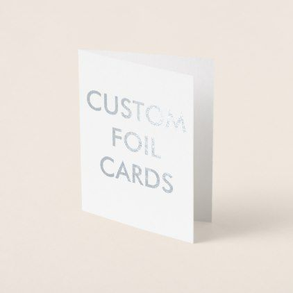 Custom Personalized Silver Foil Greeting Card  Foil Leaf Gift
