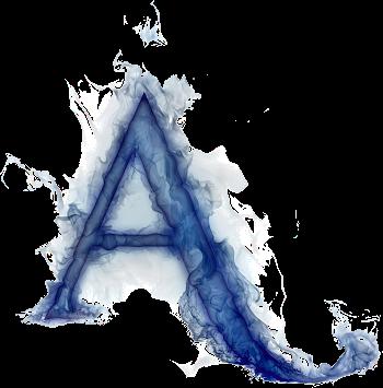 Misterioso Alfabeto Azul Letras De Fuego Fotos De Letras Letras Png