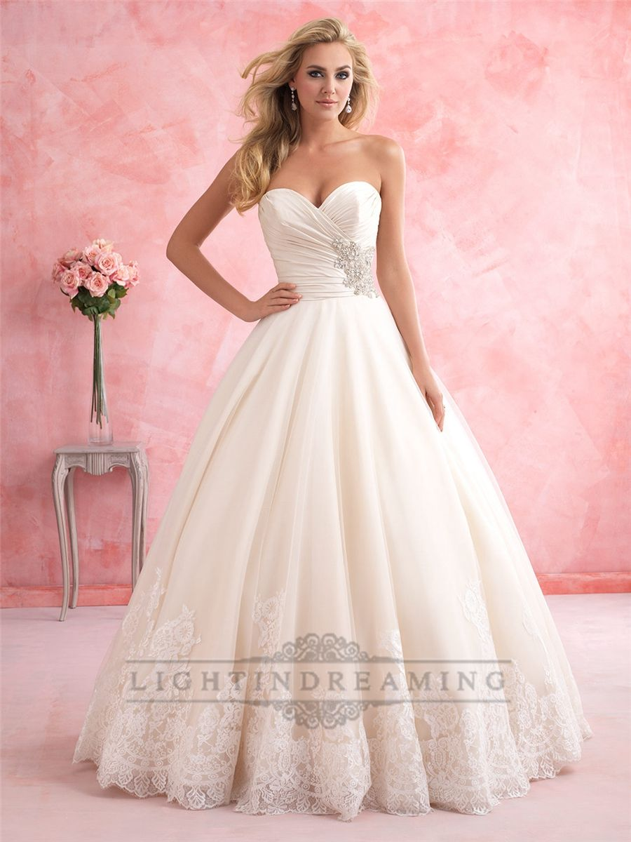 Gorgeous Strapless Sweetheart A-line Wedding Dress | Great Discount ...