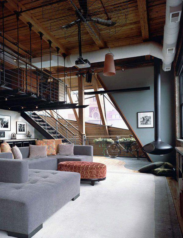 Three Story West Loop Loft Renovation In Chicago Interior LivingroomApartment DesignPad DesignHome DesignWarehouse