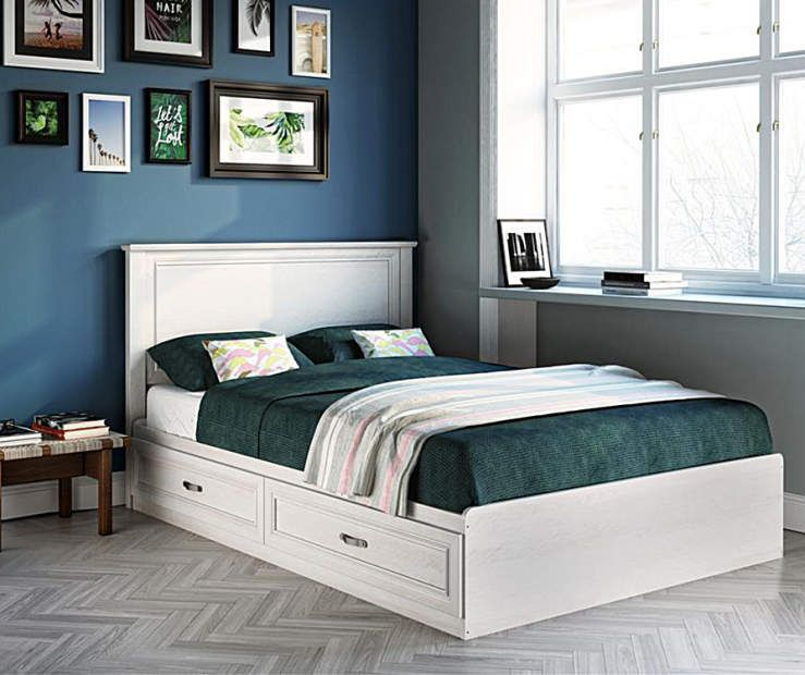 Best Ameriwood Magnolia White Oak Full Mates Storage Bed In 400 x 300