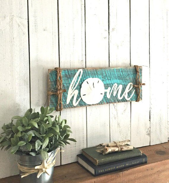 Wood Home Sign Home Sweet Home Coastal Cottage Sign Vacation