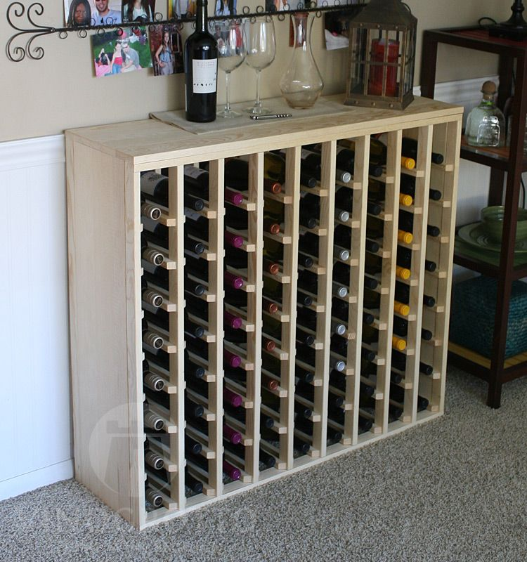 72 Bottle Premium Table Wine Rack 12 Depth Casas