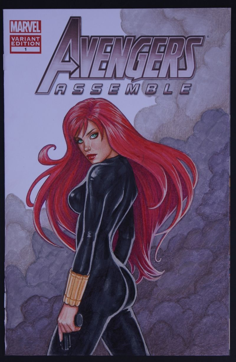 Avengers Black Widow Sketch Cover by Valentina HPA-1l