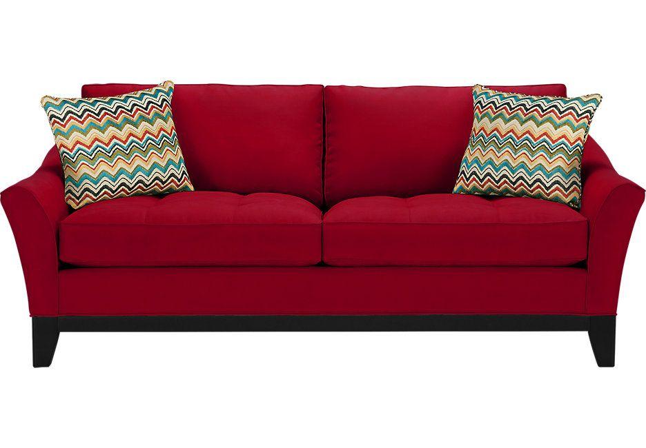 Best Cindy Crawford Home Newport Cove Cardinal Sofa 86W X 400 x 300
