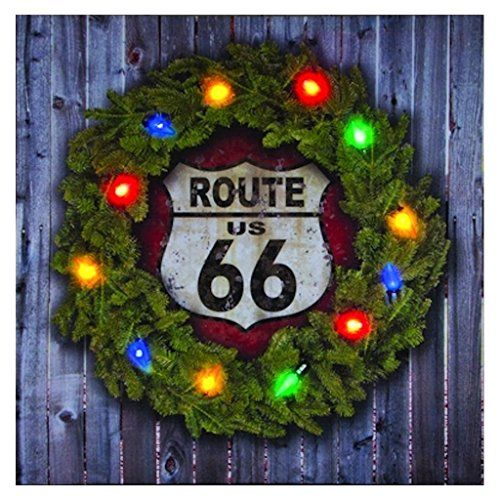 Ohio Wholesale Route 66 Christmas Lighted Canvas 1875\