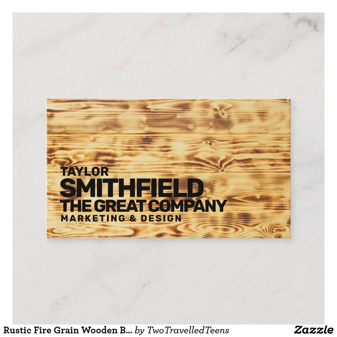 Rustic Fire Grain Wooden Business Card Zazzle Com Wooden Business Card Wooden Company Business Cards