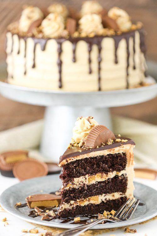 Peanut Butter Chocolate Layer Cake Pinterest Kuchen