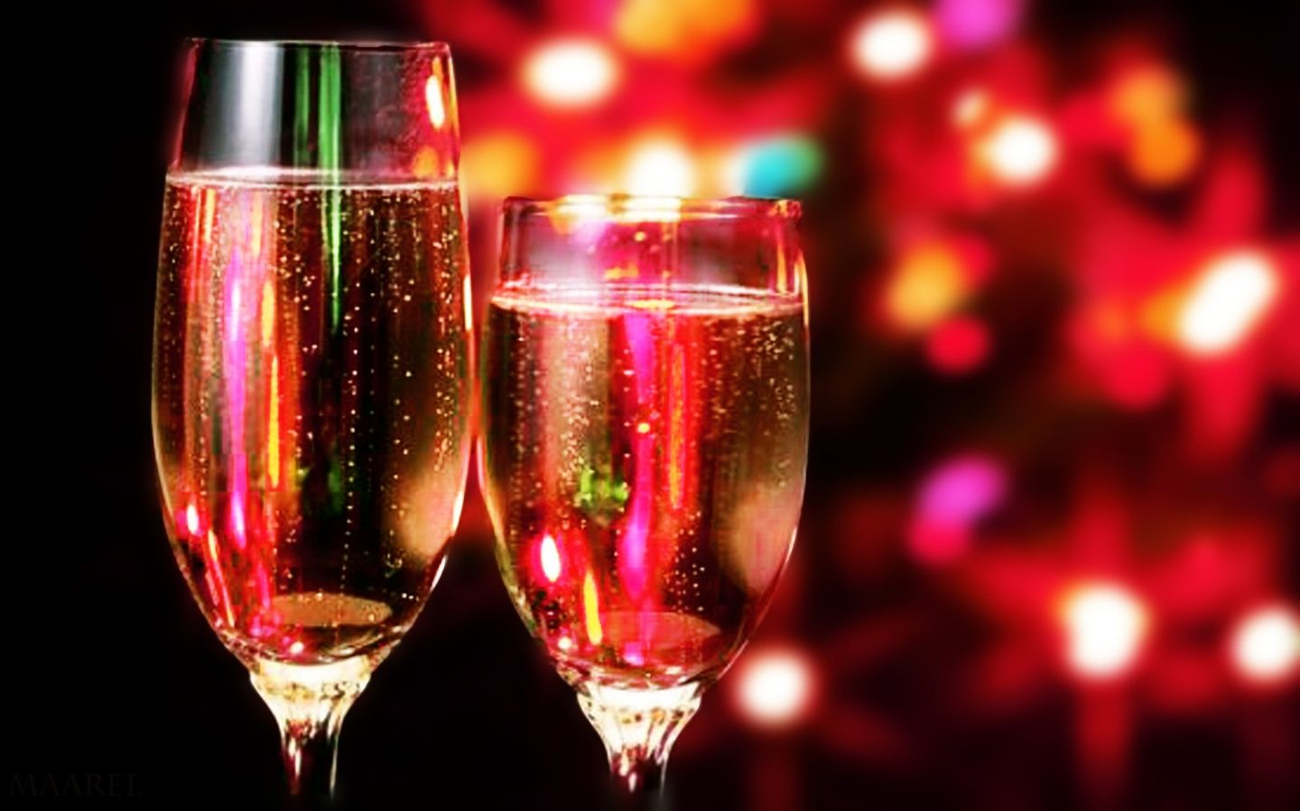 Romantic Champagne Cocktails New Year S Eve Celebrations Happy New Year Wallpaper