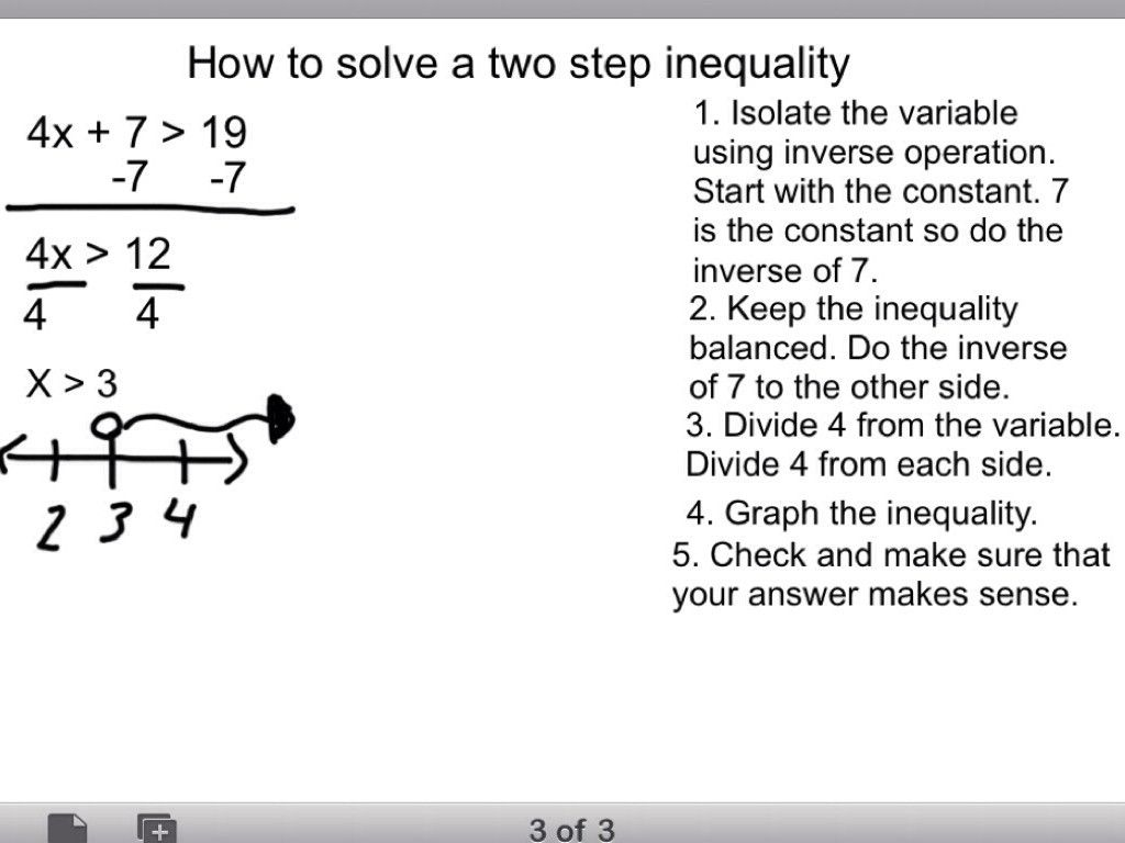 10 Solving One Step Inequalities Worksheet