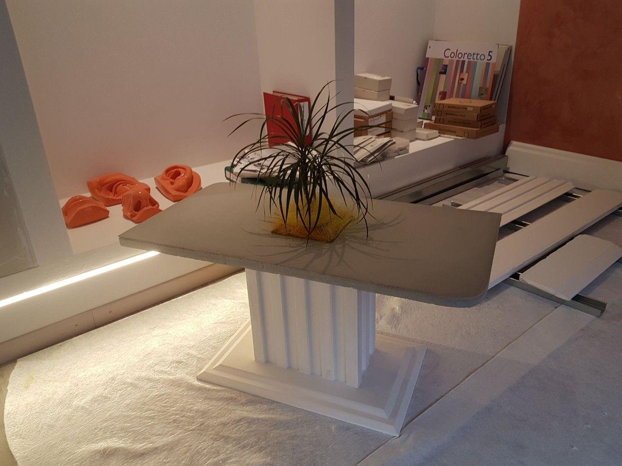 salontisch beton, tisch, regal, konsole, tablar glas, gips, stuck