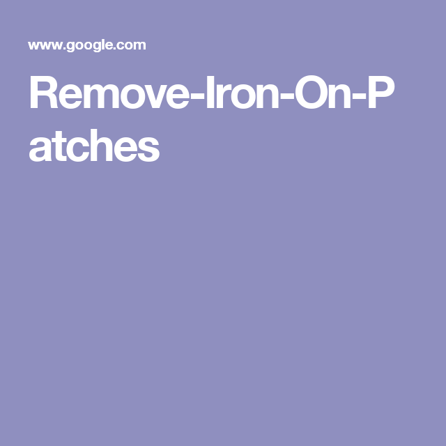 3 Ways To Remove Iron On Patches Wikihow Iron On Patches How To Remove Patches