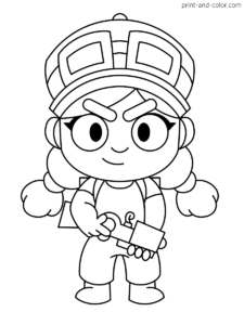 Brawl Stars Coloring Pages Star Coloring Pages Coloring Pages Star Wallpaper