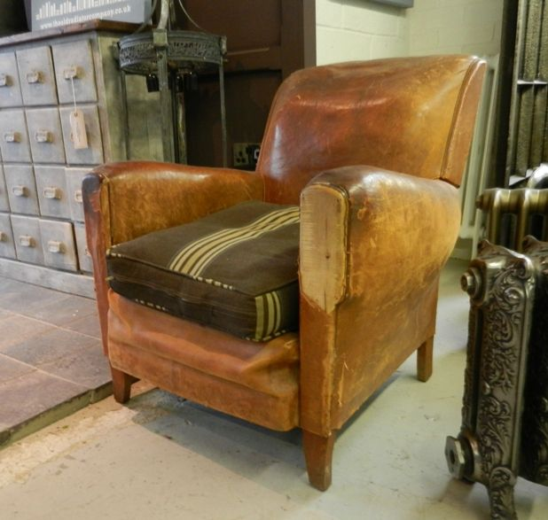 Leather Sofas Gloucestershire: Vintage Tub Chair In Leather For Sale On SalvoWEB Vintage