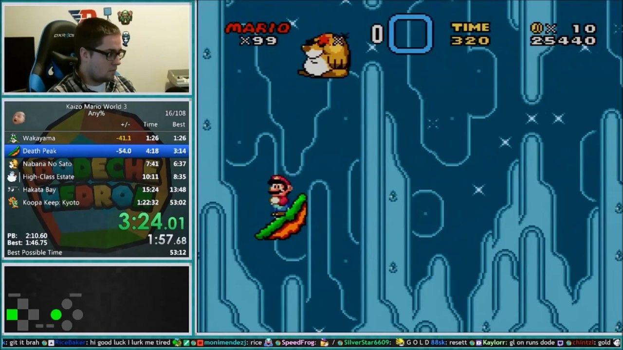Kaizo Mario World 3 Speedrun 59:02 *World Record