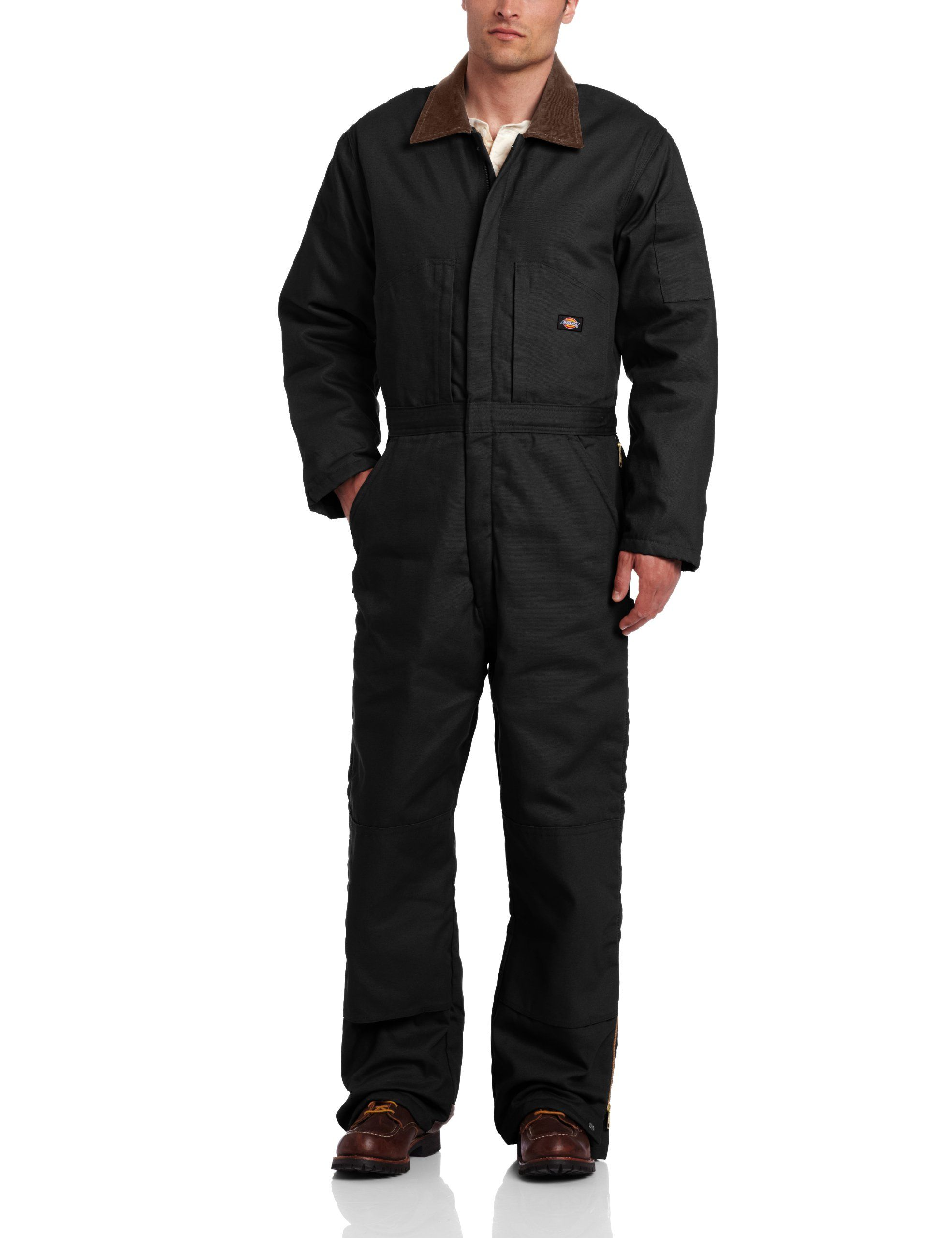 amazon com dickies men s insulated coverall black small on insulated work overalls id=37832