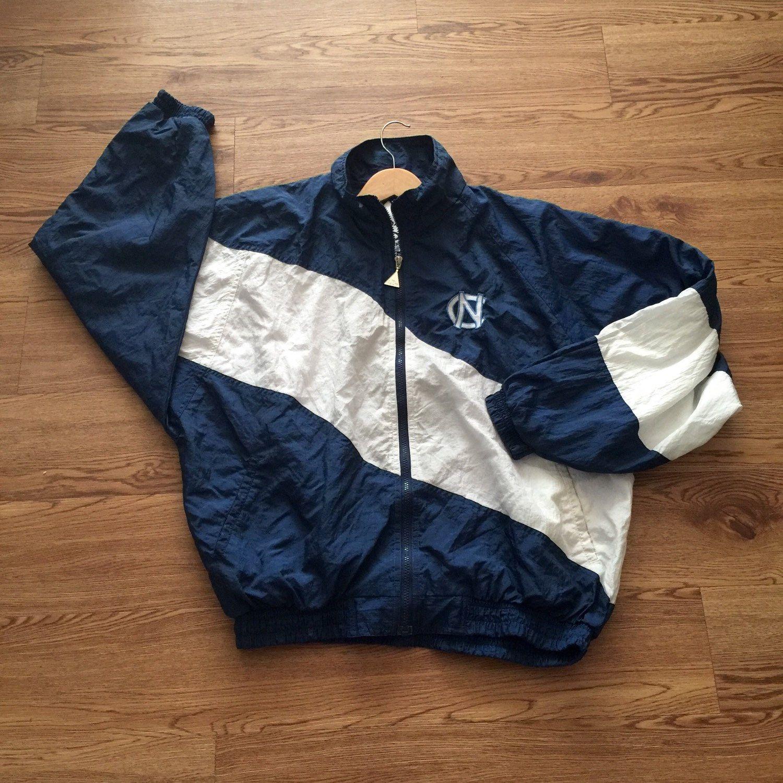 Vintage North Carolina Tar Heels Full Zip Jacket Vintage Windbreaker Jacket Vintage Jacket Jackets [ 1500 x 1500 Pixel ]