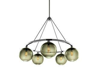 Lampadario a led in vetro soffiato solitaire lampadario niche