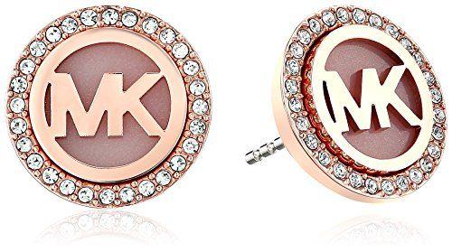 Michael Kors MK Logo Stud Earrings - cool gifts under 50 dollars - unique gifts under 50 dollars -