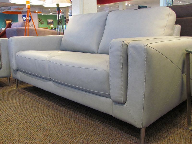 Zuri Leather Loveseat By Palliser In Dax Ash.