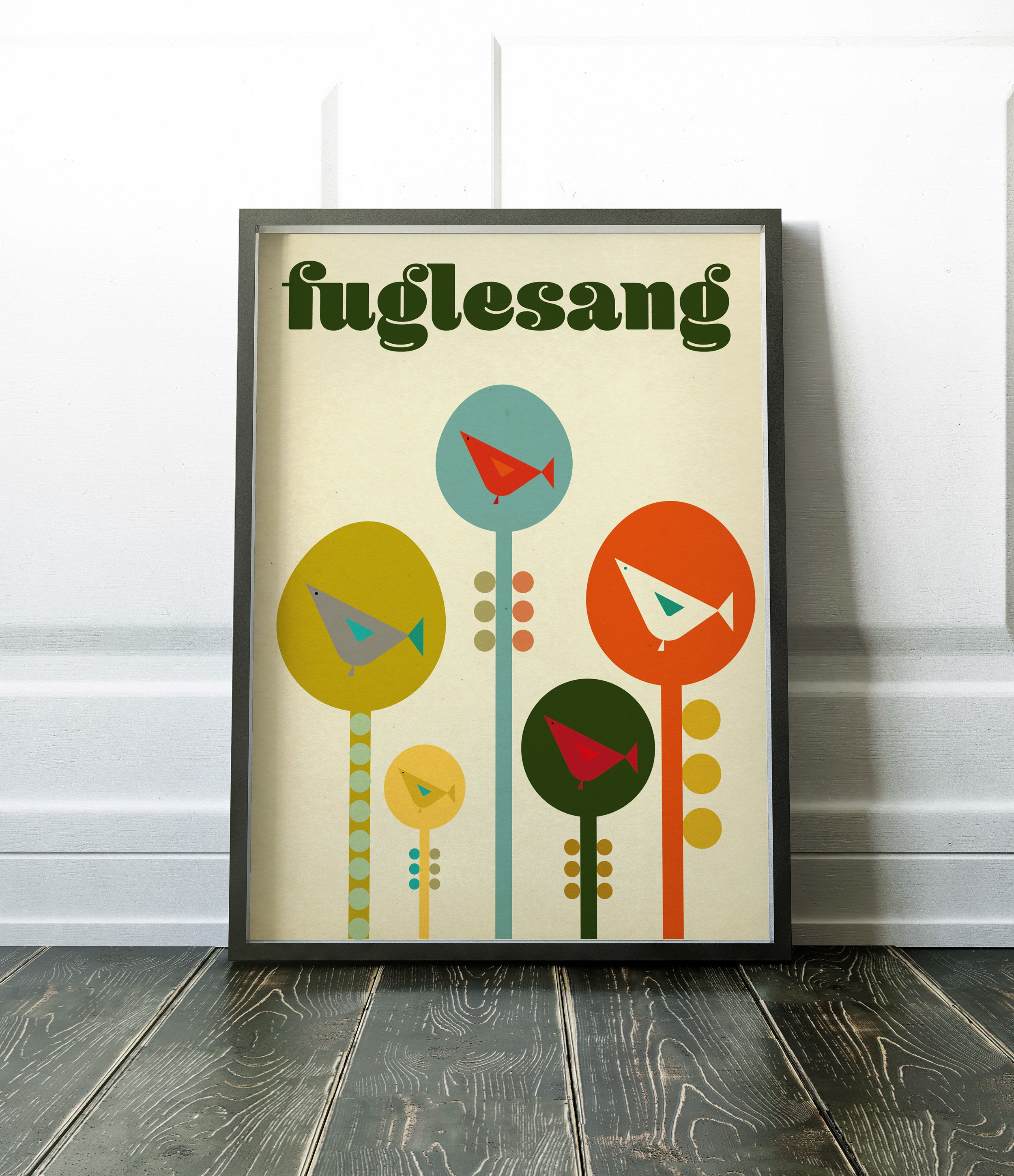 Fuglesang Contemporary Modern Scandinavian Style Art Poster Poster Art Contemporary Art Prints Art Prints For Sale