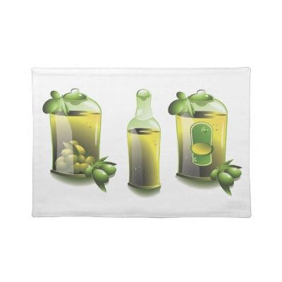 "Sold individually - Placemats 20"" x 14""  An undeniably wonderful way to decorate your dining room table, this olive oil evoo for chefs placemat can be found by searching for the tags, olives, oil, or recipe"