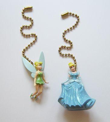 2 Piece Disney Princess Cinderella Tinkerbell Ceiling Fan ...