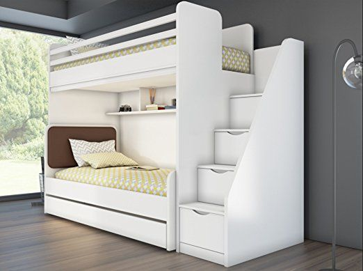 kinder jugend bett hochbett inkl regal treppe 7 jahre garantie neu hochbett pinterest. Black Bedroom Furniture Sets. Home Design Ideas