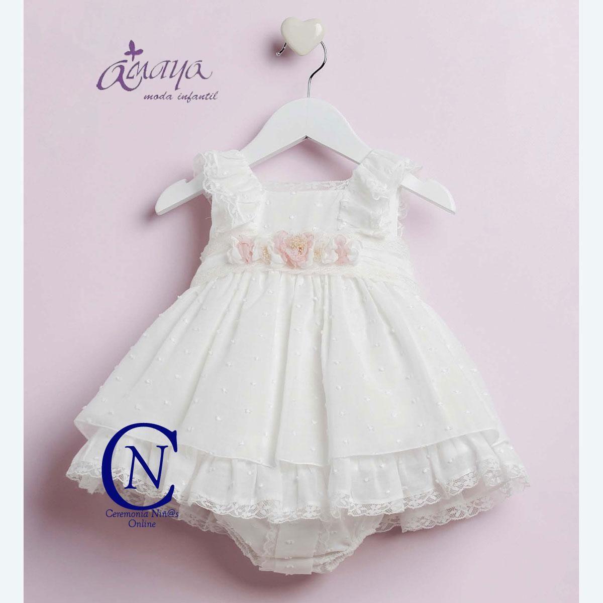 Vestido de bebe con braguita ARTESANIA AMAYA modelo 22200 | BAUTIZO ...