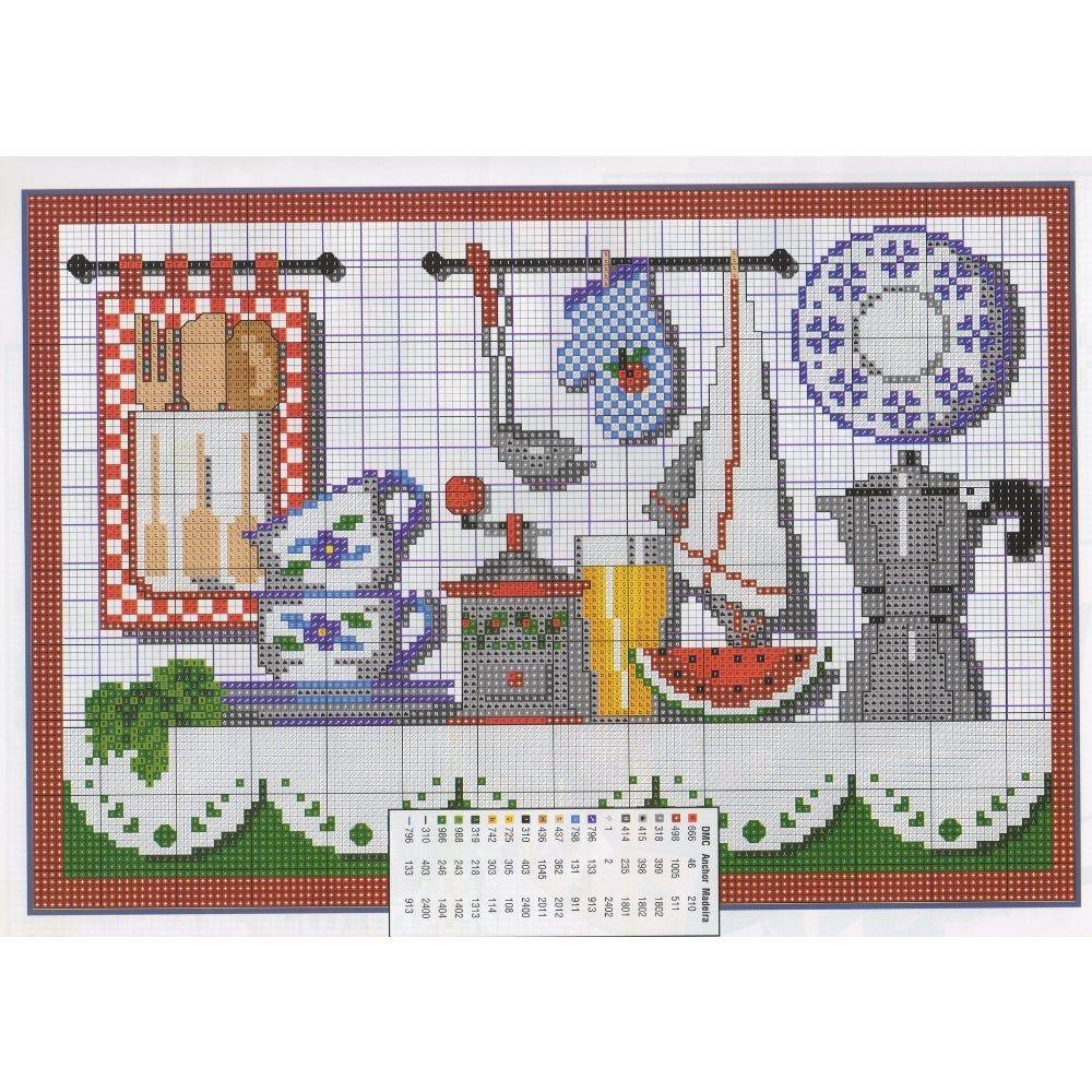 modelo grafico ponto cruz cozinha