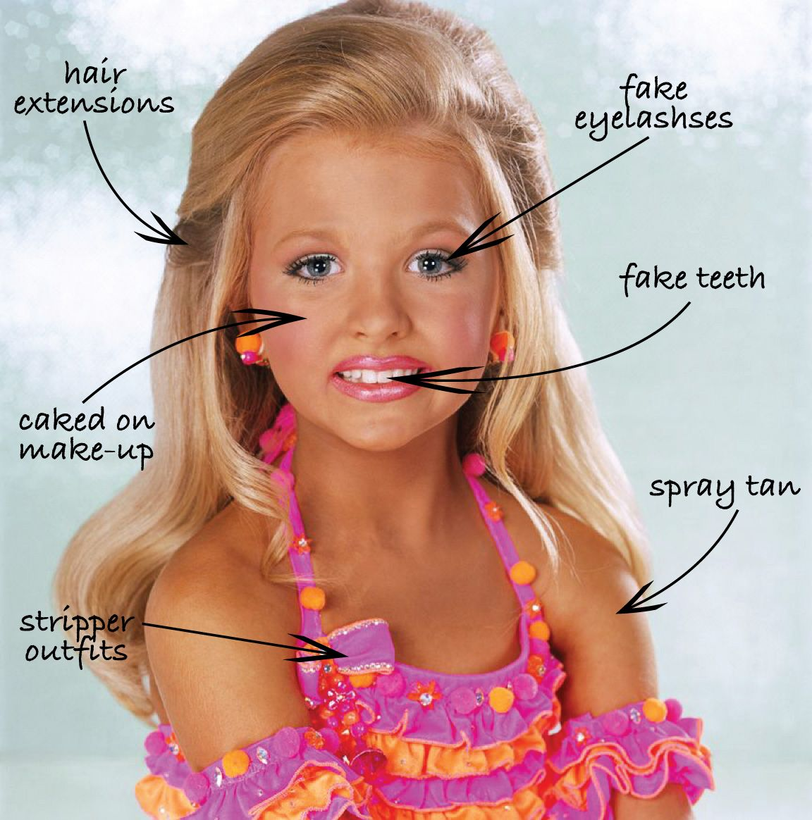 Young teen facial fake