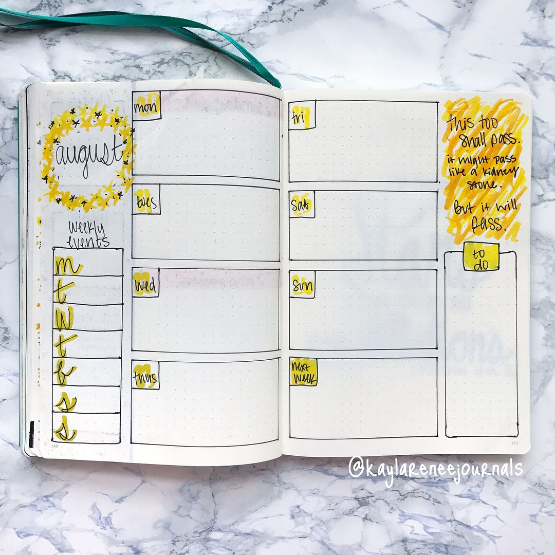 12 August Bullet Journal Page Ideas — Sweet PlanIt #augustbulletjournal