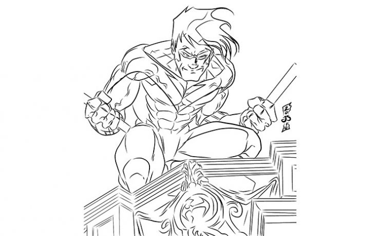 dc comics nightwing coloring pages - photo#14