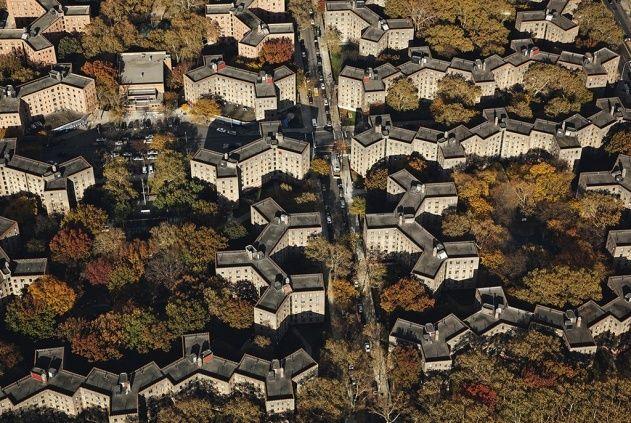 Queensbridge Houses Qb Queens New York Etats Unis City Aerial View Aerial Photo