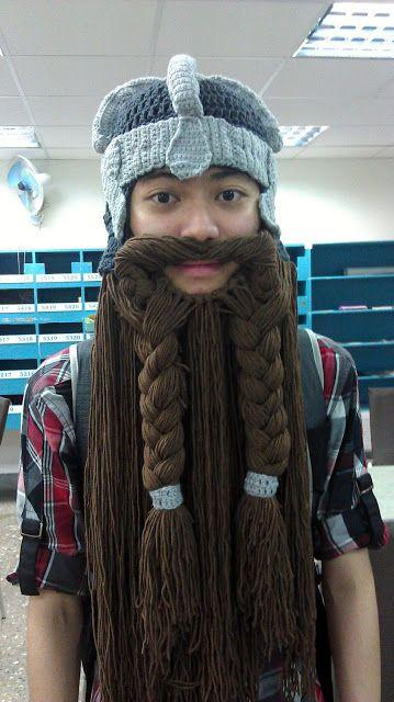 d06b213c048 Crochet Fangirl  Lord of The Rings Inspired Dwarven Beard Helmet ...