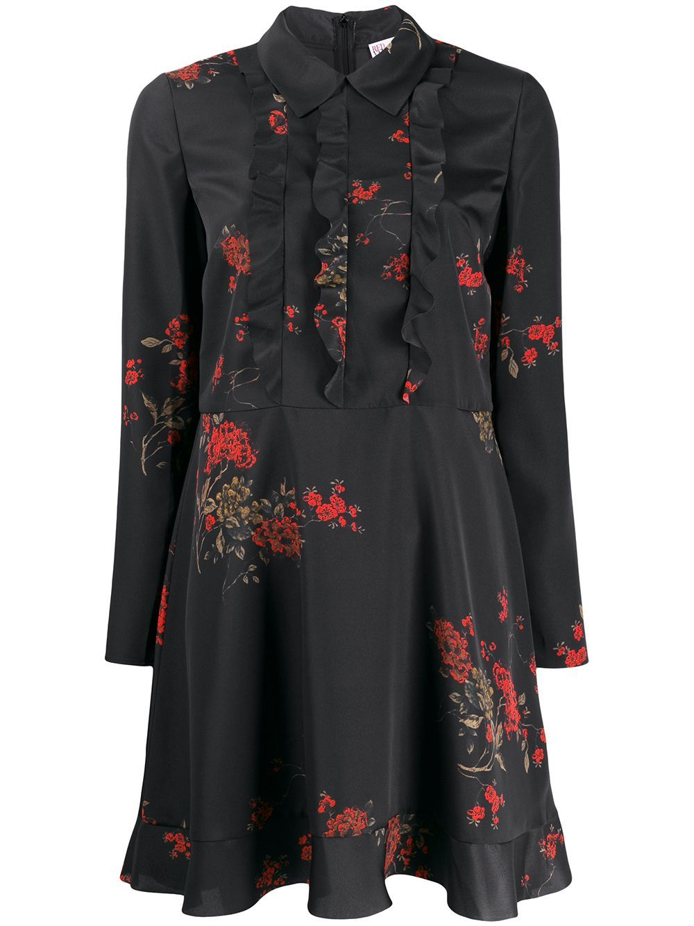 Red Valentino Floral Print Mini Dress Farfetch Printed Mini Dress Red Valentino Mini Black Dress [ 1334 x 1000 Pixel ]