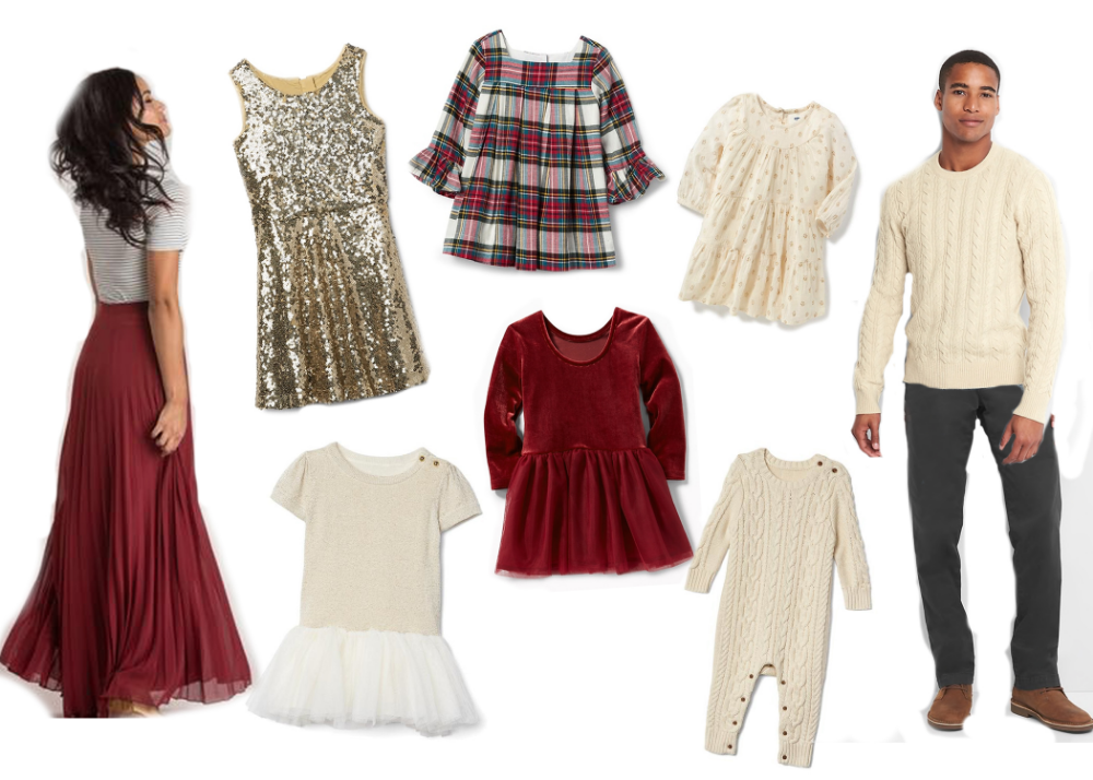 Christmas Family Photos Outfit Inspiration #familyphotooutfits