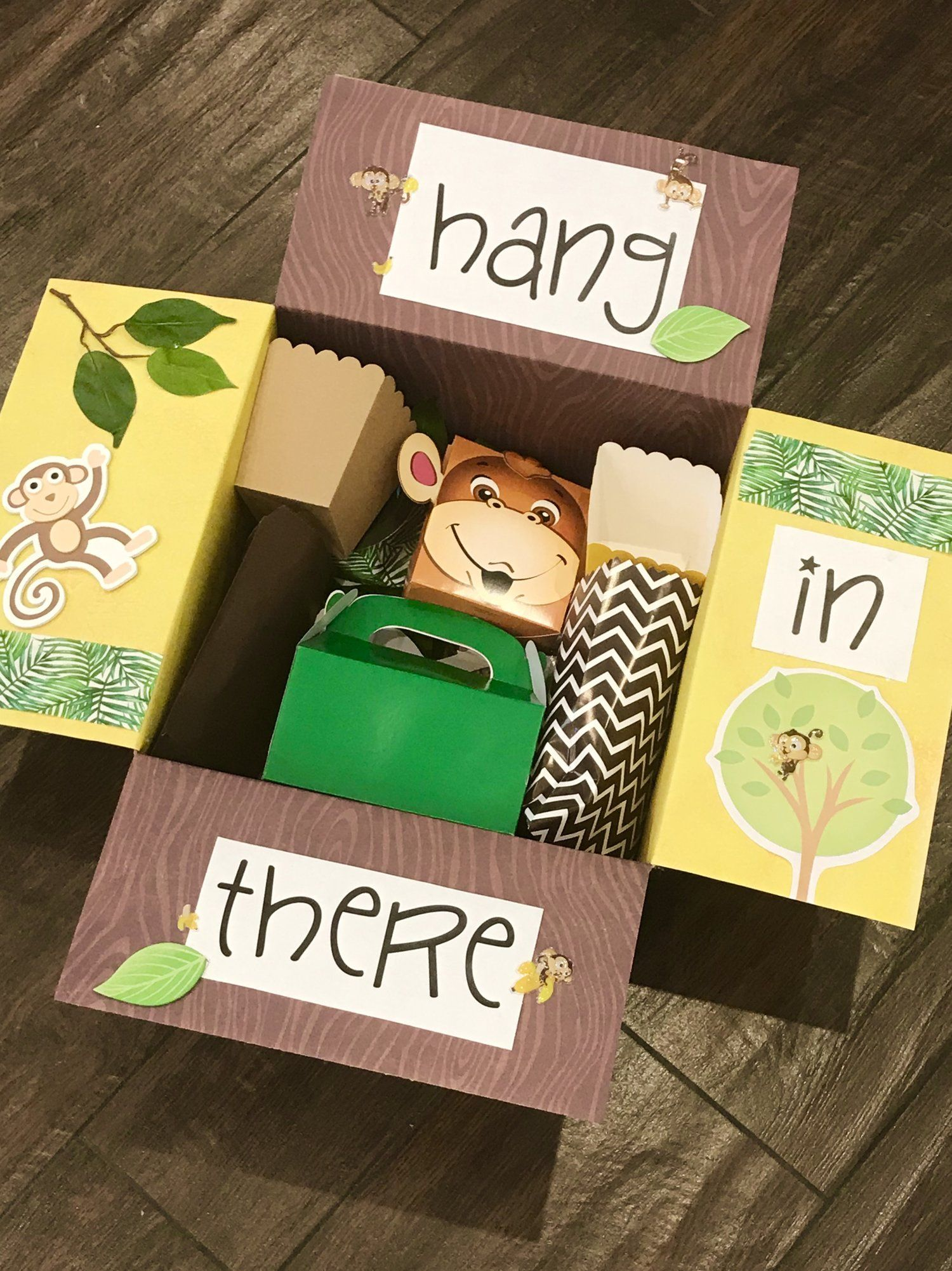 Hang in There Care Package #spookybasketideasforboyfriend