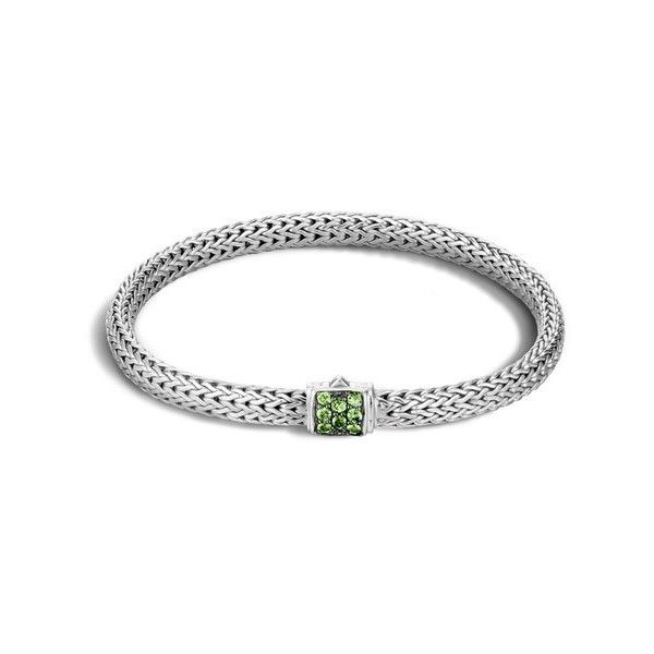John Hardy Classic Chain Extra Small Bracelet ($495) ❤ liked on Polyvore featuring jewelry, bracelets, tsavorite, john hardy, john hardy jewellery, john hardy bangles, john hardy jewelry and chains jewelry