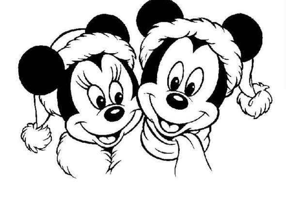 Mickey and Minnie Mouse Christmas Coloring Sheet | Disney ...