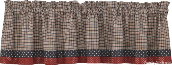 Patriot S Point Lined Border Curtain Valance By Park Designs At