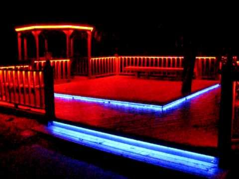 Led deck lighting in color decking rope lighting and backyard color changing led rope lighting for deck aloadofball Image collections