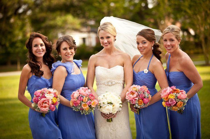 Yli tuhat ideaa: Cornflower Blue Bridesmaid Dresses Pinterestissä ...