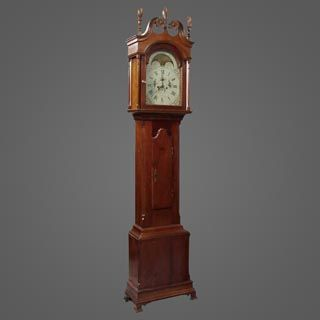 Nice Tall Case Clock In A Remarkable State Of Preservation, American Walnut.  Find This And Other Decorative Arts At CuratorsEye.com.