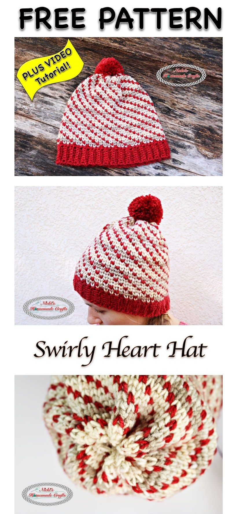 Swirly Heart Hat -Free Crochet Pattern | gorros | Pinterest | Gorros ...