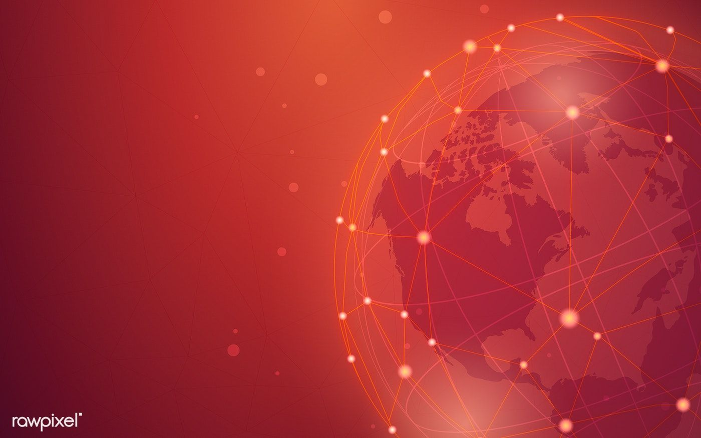 Worldwide Connection Red Background Illustration Vector Free Image By Rawpixel Com Kappy Kappy Red Background Vector Free Illustration