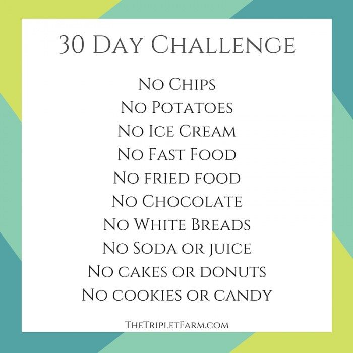 30 Day Challenge My Weight Loss Journey The Triplet Farm | Health ...