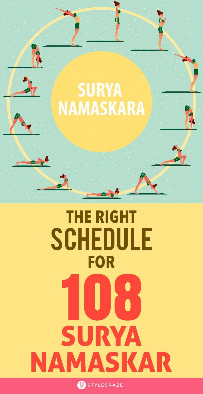 108 Surya Namaskar What Is The Right Schedule To Follow Surya Namaskar Surya Namaskar Challenge Surya Namaskara